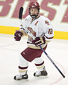 Chris Collins - The Boston College Eagles completed a shutout sweep of the University of Vermont Catamounts on Saturday, January 21, 2006 by defeating Vermont 3-0 at Conte Forum in Chestnut Hill, MA.