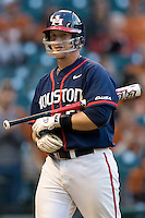 Houston Cougars Catcher Chris Wallace (#20) against the Texas Longhorns on Saturday March 6th, 2100 at the Astros College Classic in Houston's Minute Maid Park.  (Photo by Andrew Woolley / Four Seam Images)