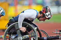 Photo: Tony Oudot/Richard Lane Photography..Aviva London Grand Prix. 24/07/2009. .women's T54-1500m. .Tatyana McFadden of USA on her way to victory.