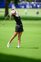 Jenny Shin (KOR) watches her approach shot on 10 during Thursday's round 1 of the 2017 KPMG Women's PGA Championship, at Olympia Fields Country Club, Olympia Fields, Illinois. 6/29/2017.<br /> Picture: Golffile | Ken Murray<br /> <br /> <br /> All photo usage must carry mandatory copyright credit (&copy; Golffile | Ken Murray)