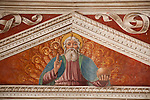A 16th cenutry fresco in the Santa Maria delle Grazie church in Gravedona, a town on Lake Como, Italy