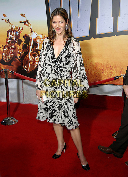 "JILL HENNESSY.attends The Touchstone Pictures' World Premiere of ""Wild Hogs"" held at The El Capitan Theatre in Hollywood, California, USA, February 27 2007. .full length black and white dress.CAP/DVS .©Debbie VanStory/Capital Pictures"