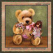 GIORDANO, CUTE ANIMALS, LUSTIGE TIERE, ANIMALITOS DIVERTIDOS, Teddies, paintings+++++,USGI1041M,#AC# teddy bears
