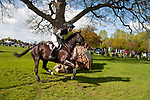 Badminton, Gloucestershire, United Kingdom, 4th May 2019, William Fox-Pitt riding Oratorio during the Cross Country Phase of the 2019 Mitsubishi Motors Badminton Horse Trials, Credit:Jonathan Clarke/JPC Images