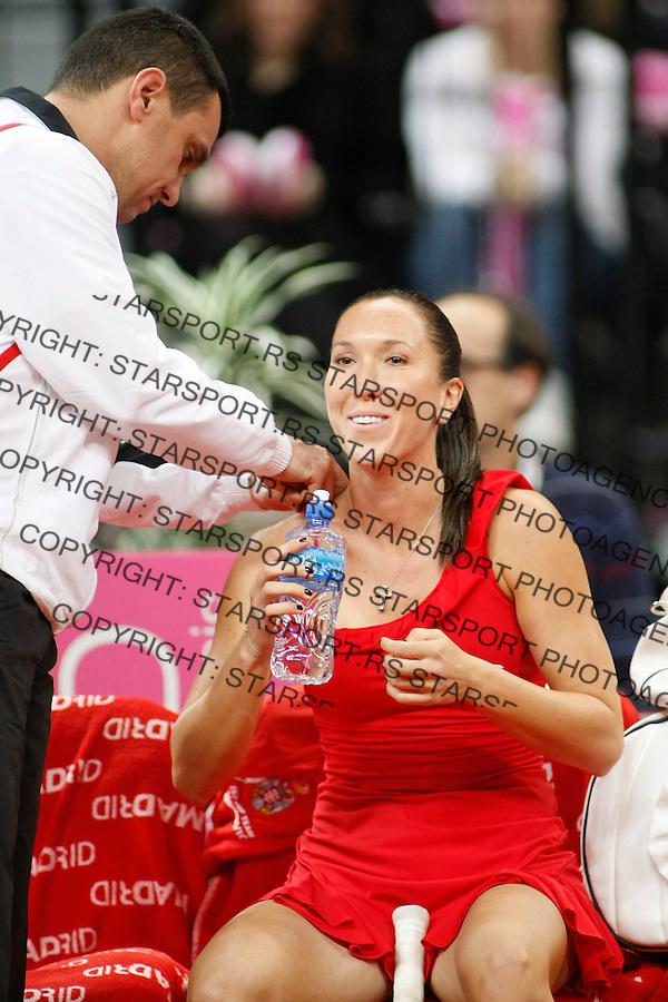 Tennis, FED CUP.Serbia Vs. Slovakia.Jelena Jankovic Vs. Daniela Hantuchova.Jelena Jankovic and Dejan Vranes.Beograd, 25.04.2010..foto: Srdjan Stevanovic/Starsportphoto ©