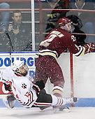 Steve Silva (Northeastern - 17), Brian Dumoulin (BC - 2) - The Northeastern University Huskies defeated the visiting Boston College Eagles 2-1 on Saturday, February 19, 2011, at Matthews Arena in Boston, Massachusetts.
