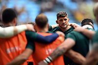 Mike Williams of Leicester Tigers looks on in a pre-match huddle. Gallagher Premiership match, between Wasps and Leicester Tigers on September 16, 2018 at the Ricoh Arena in Coventry, England. Photo by: Patrick Khachfe / JMP