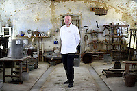 Ulrich Kerz, Chef to the Federal Chancellor of Germany Angela Merkel, poses for a portrait in the Cascina Colombara during the annual meeting of the Club des Chefs des Chefs in Livorno Ferraris, Vercelli, Italy, July 18, 2015.<br /> The Club des Chefs des Chefs, which is seen as the world&rsquo;s most exclusive gastronomic society, has extremely strict membership criteria: to be accepted into this highly elite club, you need to be the current personal chef of a head of state. If he or she does not have a personal chef, members can be the executive chef of the venue that hosts official State receptions. One of the society&rsquo;s primary purposes is to promote major culinary traditions and to protect the origins of each national cuisine. The Club des Chefs des Chefs also aims to develop friendship and cooperation between its members, who have similar responsibilities in their respective countries. <br /> The annual meeting of the Club has been hosted this year in the production site of the Italian rice company called Riso Acquerello. <br /> &copy; Giorgio Perottino