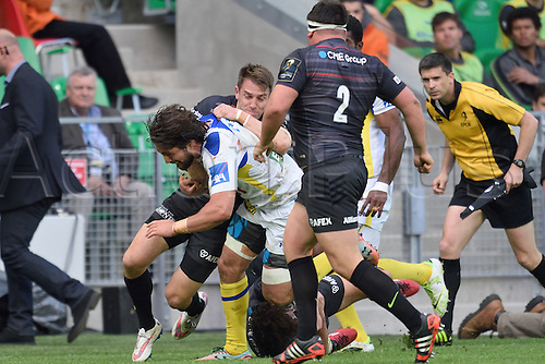 18.04.2015. Clermont-Ferrand, Auvergne, France. Champions Cup rugby semi-final between ASM Clermont and Saracens.   Julien Bardy (asm)