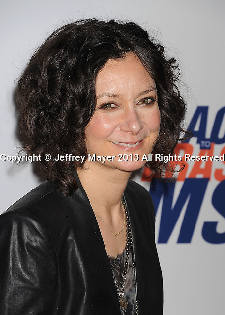 CENTURY CITY, CA- MAY 03: Actress Sara Gilbert arrives at the 20th Annual Race To Erase MS Gala 'Love To Erase MS' at the Hyatt Regency Century Plaza on May 3, 2013 in Century City, California.