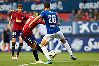 Quique Gonz&aacute;lez (forward; CA Osasuna) during the Spanish la League soccer match between CA Osasuna and Lorca FC at Sadar stadium, in Pamplona, Spain, on Saturday, <br /> May 27, 2018.