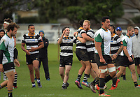 Action from the Swindale Shield Wellington premier club rugby match between Oriental-Rongotai and Old Boys-University at Polo Ground in Wellington, New Zealand on Saturday, 29 April 2017. Photo: Dave Lintott / lintottphoto.co.nz