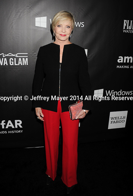 HOLLYWOOD, CA- OCTOBER 29: Actress Florence Henderson attends amfAR LA Inspiration Gala honoring Tom Ford at Milk Studios on October 29, 2014 in Hollywood, California.