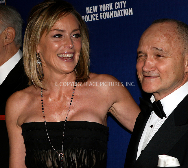 WWW.ACEPIXS.COM . . . . .  ....March 16 2010, New York City....Actress Sharon Stone and New York City Police Commissioner Ray Kelly at the 32nd Annual New York City Police Foundation Gala at The Waldorf Astoria on March 16, 2010 in New York City. ....Please byline: NANCY RIVERA- ACEPIXS.COM.... *** ***..Ace Pictures, Inc:  ..Tel: 646 769 0430..e-mail: info@acepixs.com..web: http://www.acepixs.com