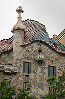 Gaudi's La Pedrera (Casa Mila) was built in the early 1900s and is an icon of Modernism with its jagged, rocky facade.
