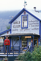 Downtown in the historic gold mining city of Dawson, Yukon Territory, Canada