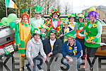 PROUD TO BE IRISH: The Anvil bar, Killorglin enjoying the Killorglin St Patrick's Day parade on Saturday front l-r: Eoin Moriarty, Stephen O'Connor and Anthony Long. Back l-r: Liz O'Connor, John O'Dowd, Conor O'Dowd, Seamus O'Connor, Dara O'Dowd, Bridie O'Connor, Teresa Long and Carina O'Dowd.