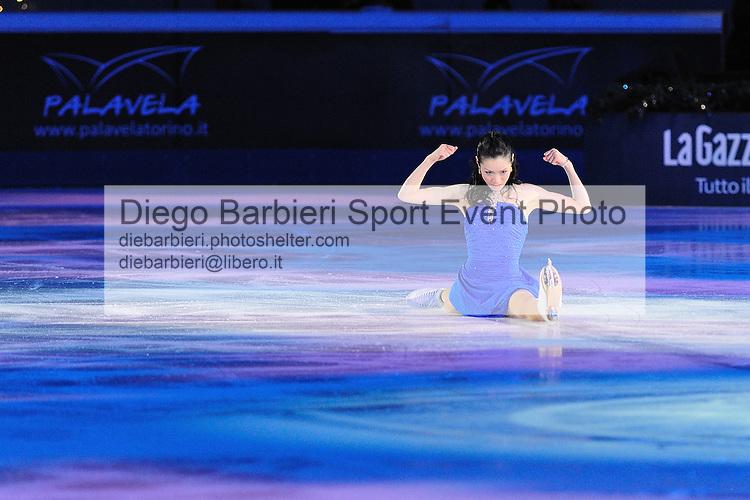 2012.01.01 Shizuka Arakawa exhibits at Capodanno on Ice, ice figure skating gala at Palavela in Turin, Italy<br /> <br /> Editorial use only
