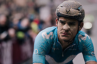 Andrey Amador (CRI/Movistar) after rolling in (at the finish)<br /> <br /> 12th Strade Bianche 2018<br /> Siena &gt; Siena: 184km (ITALY)