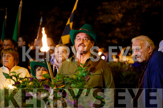 Pictured at the Torchlight Parade in memory of Thomas Ashe on the 100th Anniversary of his death in Tralee on Monday evening.