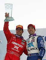 Scott Pruett, L, Luis Diaz, winners, Mexico City 250, Grand-Am Rolex Series Race, Mexico City, Mexico, March 2006.  (Photo by Brian Cleary/www.bcpix.com)