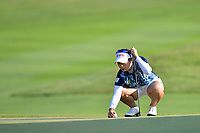 PATTAYA, THAILAND - FEBRUARY 22: Moriya Jutanugarn of Thailand preparing for the 4th shot on the 1st fairway during the second round of the Honda LPGA Thailand 2019 at Siam Country Club Pattaya (Old Course), Pattaya, Thailand on February 22, 2019.<br /> .<br /> .<br /> .<br /> (Photo by: Naratip Golf Srisupab/SEALs Sports Images)<br /> .<br /> Any image use must include a mandatory credit line adjacent to the content which should read: Naratip Golf Srisupab/SEALs Sports Images