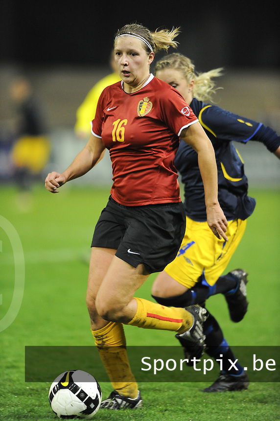 Belgium - Sweden : Sophie Mannaert.foto DAVID CATRY / Vrouwenteam.be