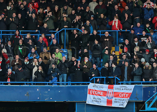 05.03.2016. Stamford Bridge, London, England. Barclays Premier League. Chelsea versus Stoke City. Stoke fans show their support at full time