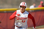 MADISON, WI - APRIL 16: Letty Olivarez #12 of the Wisconsin Badgers softball team runs home against the Indiana Hoosiers at Goodman Diamond on April 16, 2007 in Madison, Wisconsin. (Photo by David Stluka)