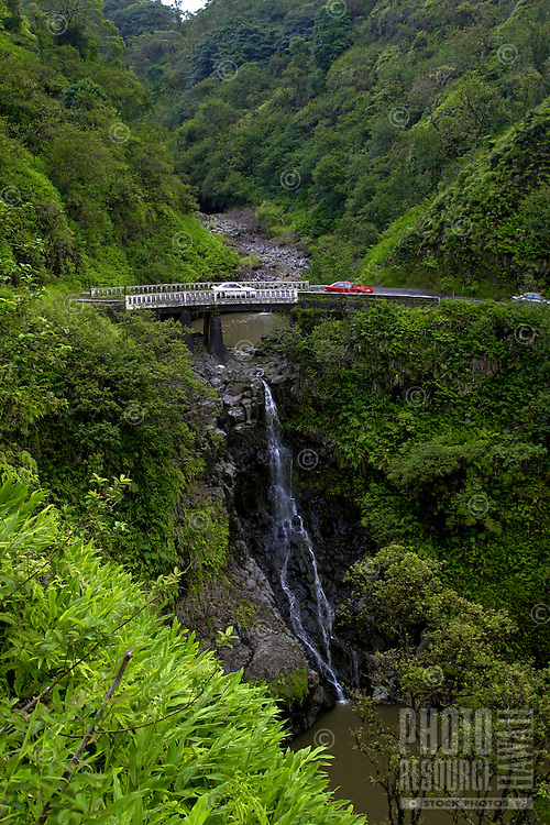 Hairpin turns, waterfalls ,and breathtaking scenery are all on the Road to Hana, Maui.