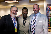 Pele, Don Garber. The group watched Brazil defeat the United States, 2-0, in an international friendly at the New Meadowlands Stadium in East Rutherford, NJ.