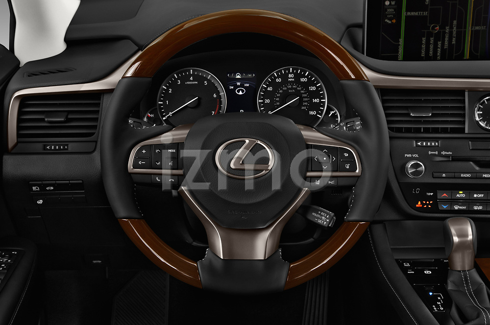 Car pictures of steering wheel view of a 2018 Lexus RX 350L-4x2 5 Door SUV Steering Wheel