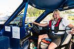 Brenda Schwartz-Yeager-Owner and Operator-Alaska Charters and Adventures, 4th generation Wrangell based Alaskan, marine artist, confident navigator of the ever changing Stikine River. Wrangell, Alaska.