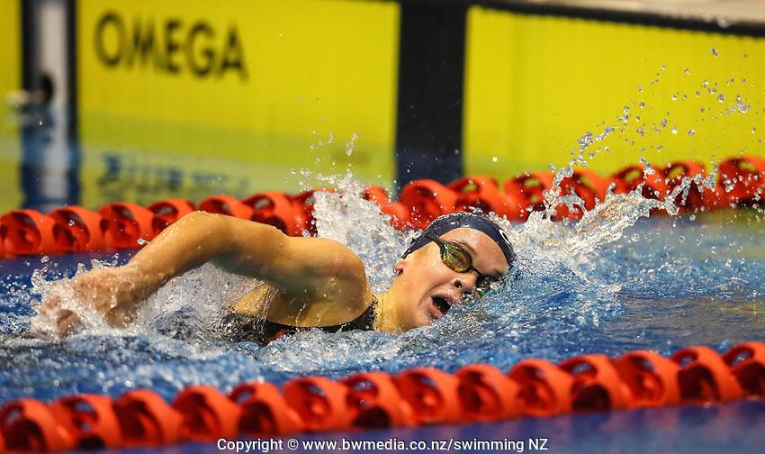 Lucy Bartlett.  Swimming New Zealand Aon National Age Group Championships, Wellington Regional Aquatic Centre, Wellington, New Zealand, Saturday 20 April 2019. Photo: Simon Watts/www.bwmedia.co.nz