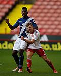 Emmanuel Mbende of Birmingham City tussles with Jake Wright of Sheffield Utd  - Professional Development League Two - Sheffield Utd U21's  vs Birmingham City U21's  - Bramall Lane - Sheffield - England - 21st December 2015 - Pic Simon Bellis/Sportimage