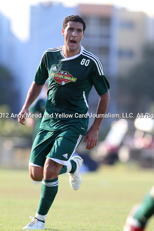06 January 2012: Aldo Paniagua (PAR). The 2012 MLS Player Combine was held on the cricket oval at Central Broward Regional Park in Lauderhill, Florida.