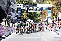 Picture by Alex Whitehead/SWpix.com - 28/09/2018 - Cycling 2018 Road Cycling World Championships Innsbruck-Tiriol, Austria - Mens U23 Road Race - The peloton begins the circuit.