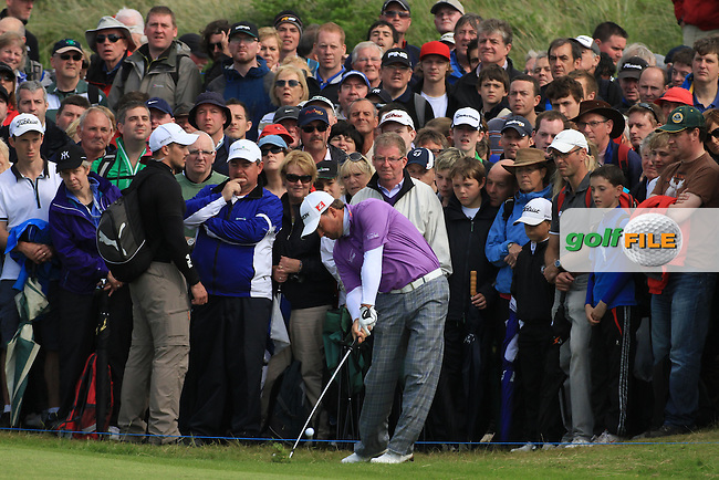 Graeme McDowell (NIR) on the 15 th during round 2 of the Irish Open at Royal Portrush GC,Portrush,County Antrim,Ireland. 29/6/12.Picture Fran Caffrey www.newsfile.ie