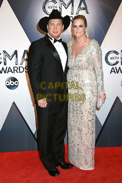 4 November 2015 - Nashville, Tennessee - Garth Brooks, Trisha Yearwood. 49th CMA Awards, Country Music's Biggest Night, held at Bridgestone Arena. <br /> CAP/ADM/LF<br /> &copy;LF/ADM/Capital Pictures