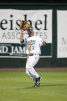 February 20, 2010:  Left Fielder Jeff Simpson (3) of the Stetson Hatters during the teams opening series at Melching Field at Conrad Park in DeLand, FL.  Photo By Mike Janes/Four Seam Images