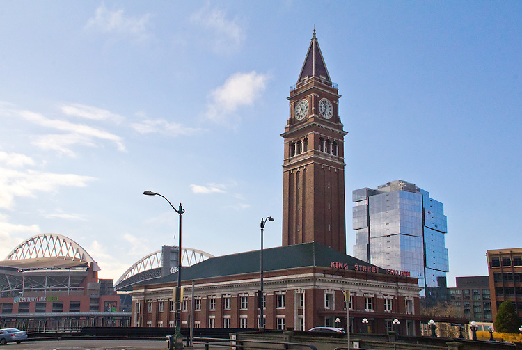 Seattle, Pioneer Square, King Street Station, Amtrack Station, Century Link Field, Stadium Place, new highrise apartments, Pioneer Square, ZGF Architects, Daniels Real Estate Properties, Pillar Properties, new architecture, cities, Washington State, Pacific Northwest,
