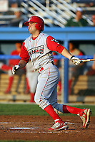 August 26 2008:  Dan Hargrave of the Williamsport Crosscutters, Class-A affiliate of the Philadelphia Phillies, during a game at Dwyer Stadium in Batavia, NY.  Photo by:  Mike Janes/Four Seam Images