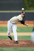 Wake Forest Demon Deacons relief pitcher Griffin Roberts (43) in action against the Georgia Tech Yellow Jackets at David F. Couch Ballpark on March 26, 2017 in  Winston-Salem, North Carolina.  The Demon Deacons defeated the Yellow Jackets 8-4.  (Brian Westerholt/Four Seam Images)