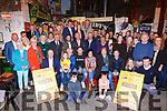 Denis and Marie Carroll launching the Darkness into Light Nathans Walk in aid of Pieta House in Reidys Bar Killarney on Monday night