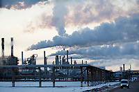 A view of a Bashneft oil refinery in Ufa, Bashkortostan, Russia. The area is a major oil and gas producing region in the country.