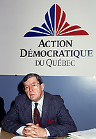 File photo - Jean Allaire, Action democratique du Quebec