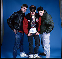 Portraits of The Beastie Boys photographed in Chicago, IL in the mid 1980s. *** HIGHER RATES APPLY: CALL TO NEGOTIATE  <br /> CAP/MPI/GA<br /> &copy;GA/MPI/Capital Pictures