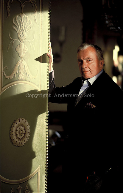Gore Vidal at home in Rome.