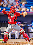 23 February 2013: Washington Nationals catcher Chris Snyder in Spring Training action against the New York Mets at Tradition Field in Port St. Lucie, Florida. The Mets defeated the Nationals 5-3 in their Grapefruit League Opening Day game. Mandatory Credit: Ed Wolfstein Photo *** RAW (NEF) Image File Available ***