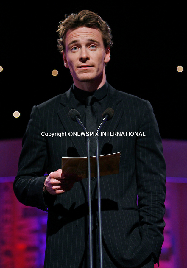 """MICHAEL FASSBENDER.at the 7th Annual Irish Film and Television Awards, Burlington Hotel, Dublin_20th February 2010..Mandatory Photo Credit: ©NEWSPIX INTERNATIONAL..**ALL FEES PAYABLE TO: """"NEWSPIX INTERNATIONAL""""**..PHOTO CREDIT MANDATORY!!: NEWSPIX INTERNATIONAL(Failure to credit will incur a surcharge of 100% of reproduction fees)..IMMEDIATE CONFIRMATION OF USAGE REQUIRED:.Newspix International, 31 Chinnery Hill, Bishop's Stortford, ENGLAND CM23 3PS.Tel:+441279 324672  ; Fax: +441279656877.Mobile:  0777568 1153.e-mail: info@newspixinternational.co.uk"""